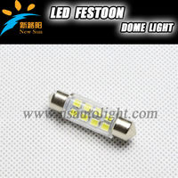 2014 new product auto car parts 12V 8pcs SMD led festoon dome lights 1W universal car roof lights