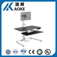 dual arm adjustable computer monitor mount stand for two lcd flat screen