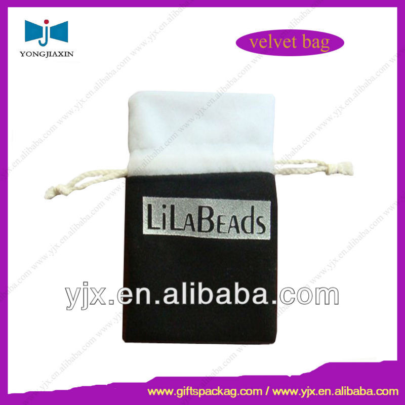 Promotion Embroidered Drawstring Gift Velvet Bag/Pouch