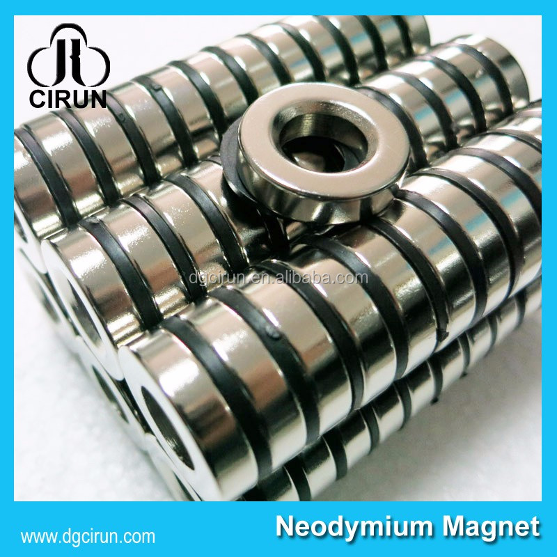 N52 D20*d13*5mm super strong permanent holder ndfeb rare earth ring neodymium solenoid valve gas magnet valves orkli