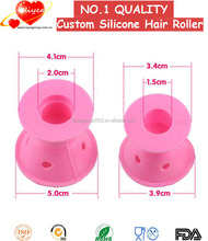 Silicone hair straightener holder Silicone no heat curlers Silicone hair rollers
