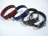 1 1/2''(38mm) pvc dog collar with iron buckles for big and heavy dogs