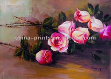 Canvas Flower Rose Handmade Oil Painting