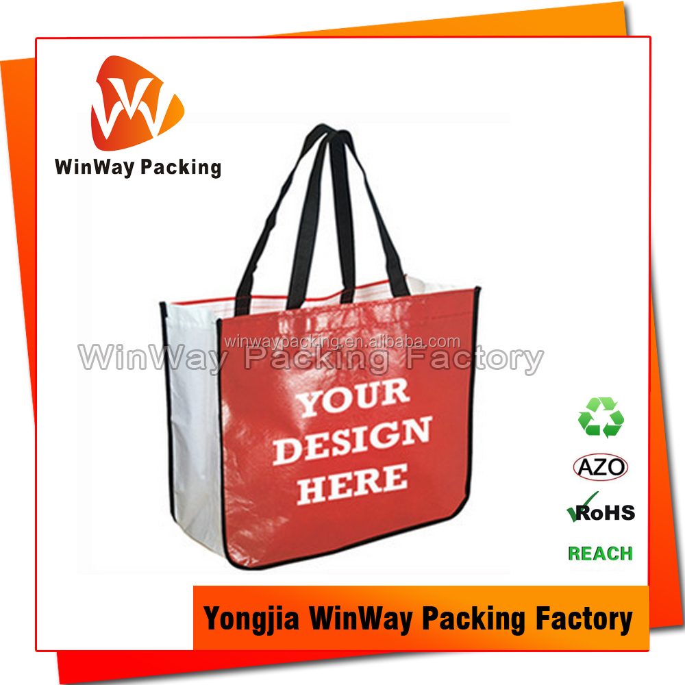 Recycling PP Non Woven Reusable Shopping Bag Foldable