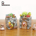 Roogo polyresin otter family flower pots decoration for plant store