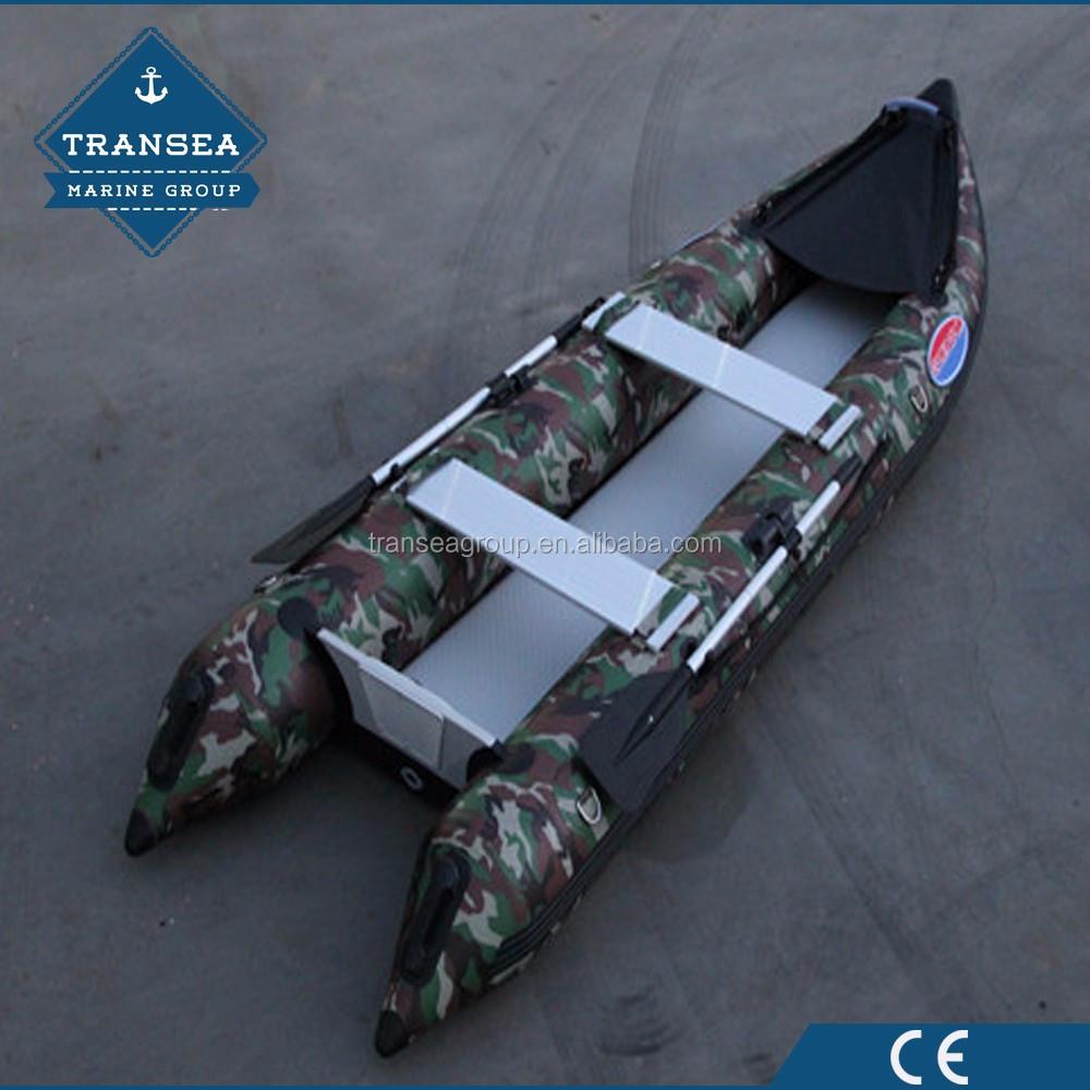 CE certificate hypalon inflatable kayak with outrigger canoe paddles for 3 persons