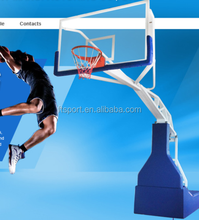 FIBA Stand Hydraulic Indoor Basketball Stand/Equipment/System(actual system)
