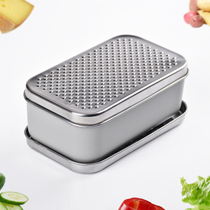 Multi stainless steel vegetable zester grater kitchen with two blade