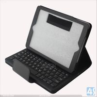 """bluetooth le"" For ipad leather case detachable blue tooth keyboard for ipad air P-IPD5CASE030"
