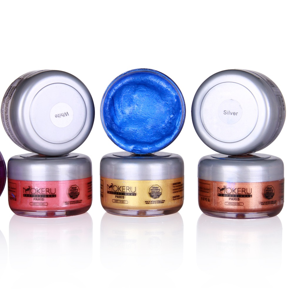 6 colors Super Hold Extra Styling Hair Wax of hair color changing for sale