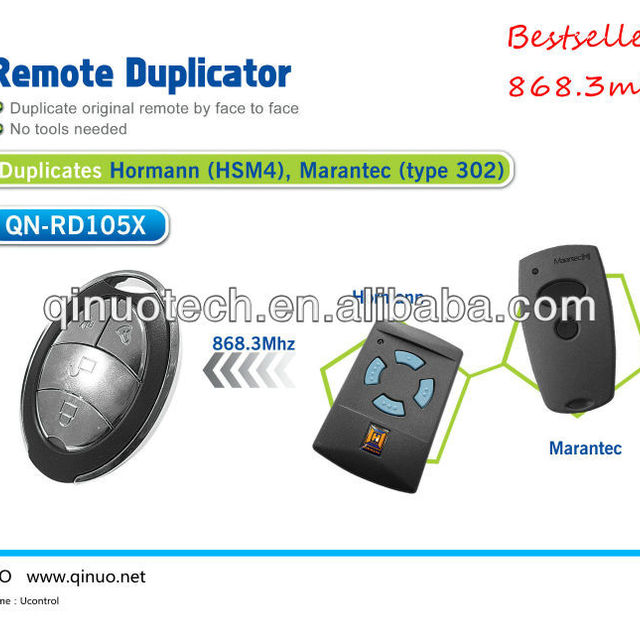 garage door opener, duplicate hormann and marantec 868.3mhz, universal face to face copy remote