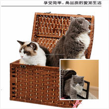High quality and convenient wicker pet cages cheap cat cages cat show cages
