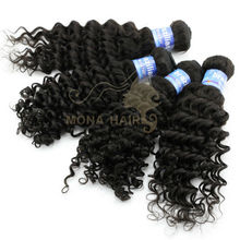 AAAAA Grade high quality chic hair extension raw virgin brazilian hair tight curly hair