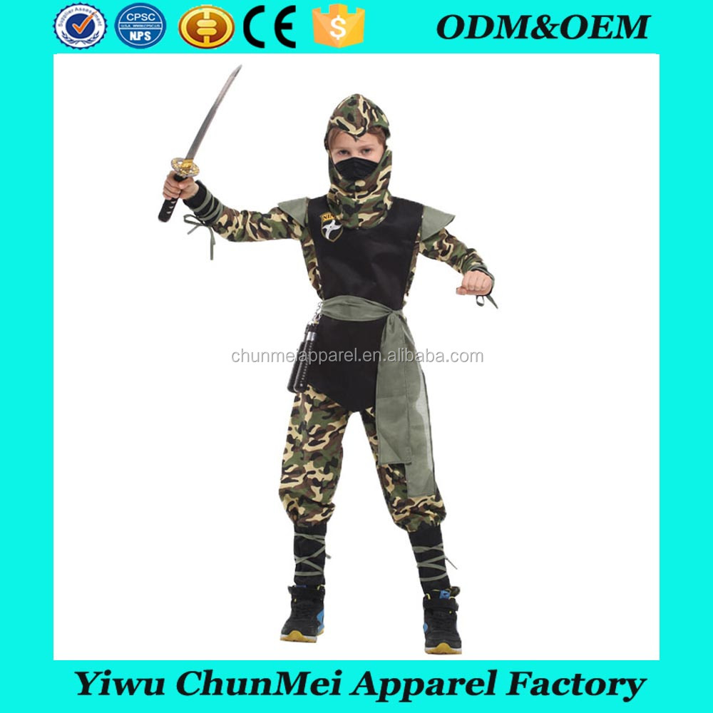 2017 kids cosplay japan halloween ninja costume