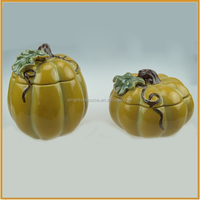 hotsale ceramic pumpkin halloween decoration pumpkin canister