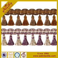 curtain and lampshade rayon curtain tassel fringe