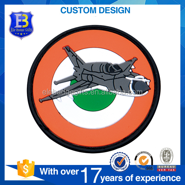 Customer 2D Airline Promotional Rubber Soft PVC Patch