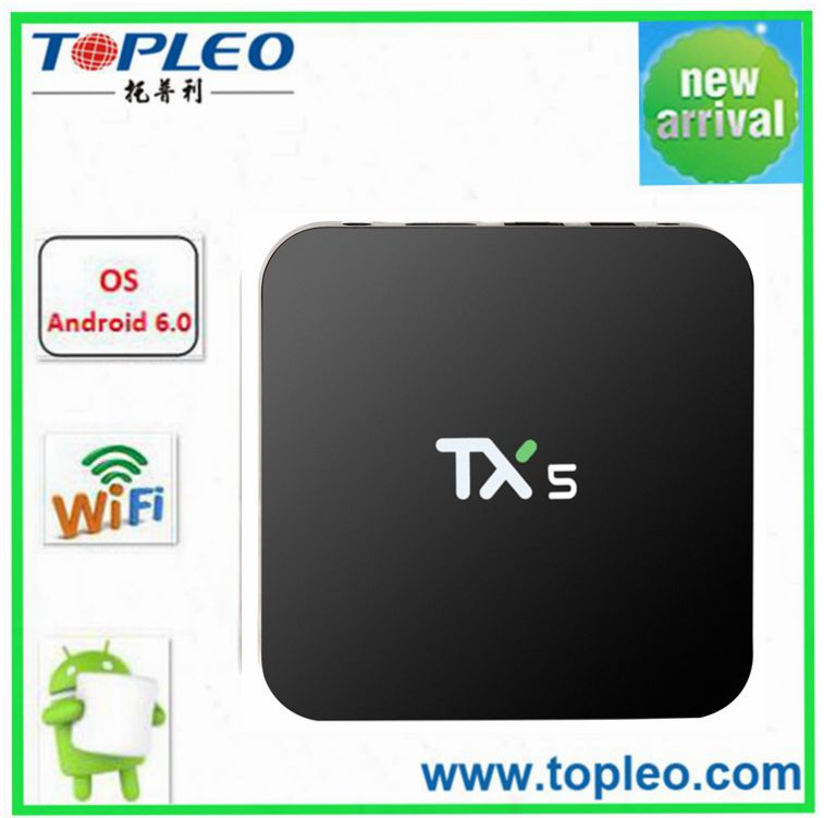 Free movie and live channels Android 6.0 TV Box kodi tv player TX5