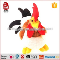 Stuffed Chicken Plush Toy Cock Animals Toys Red Zodiac Chicken Toy Imported