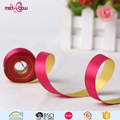 Personalized 16mm thermal transfer print double faced satin ribbon for gift