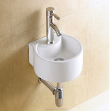 Mini Lavabo Ceramic Sink with Faucet Hole