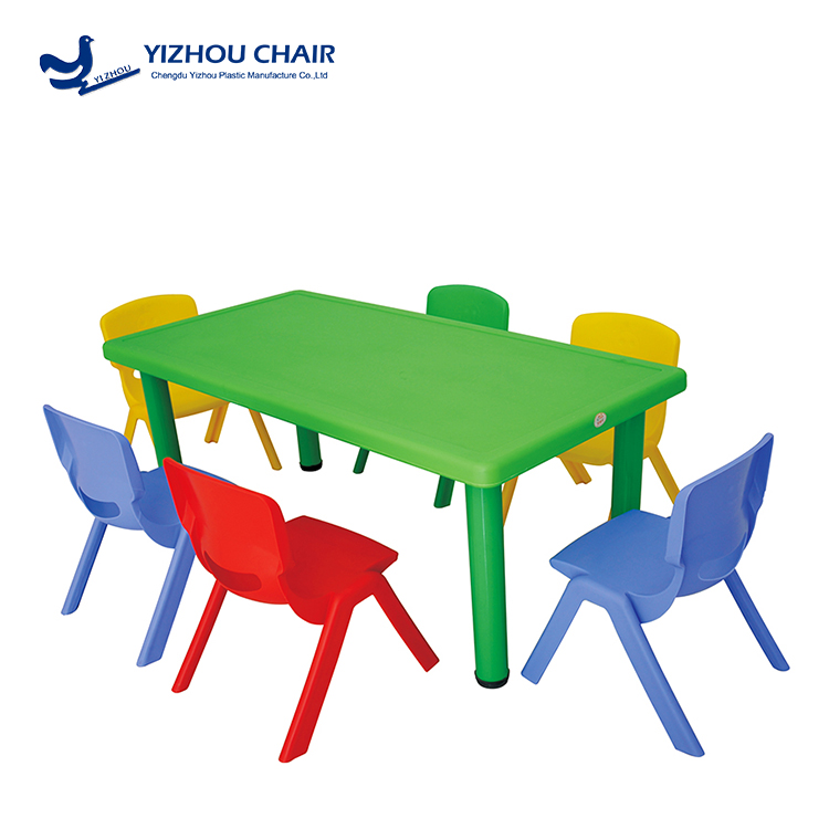 steady colorful childrens plastic chairs and tables