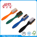 Customizable double sided suede shoe brush with rubber and brass nubuck care cleaner wholesale