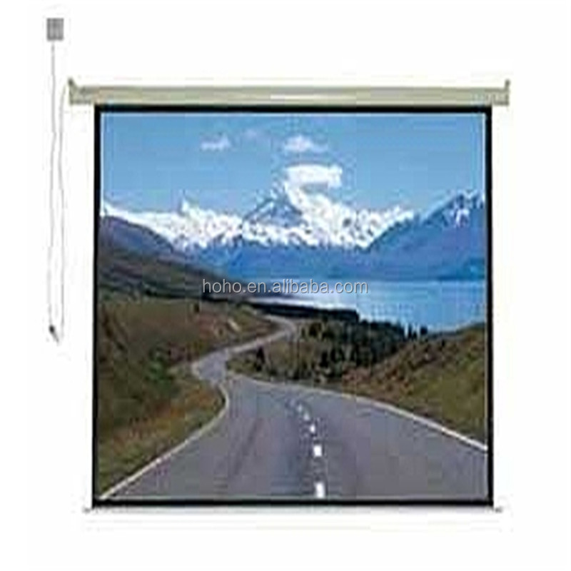 "150"" inch electric projection screen/ceiling hanging projector screen"