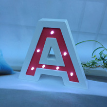 Wholesale handmade cutting home wedding party decorative free standing customized printing alphabet letter