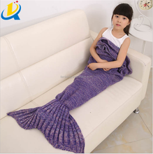 Cheapest Eco-friendly soft acrylic mermaid tail blanket for sale