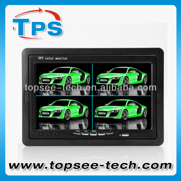 best selling 7 inch built-in split screen car monitor with 4 CH video inputs