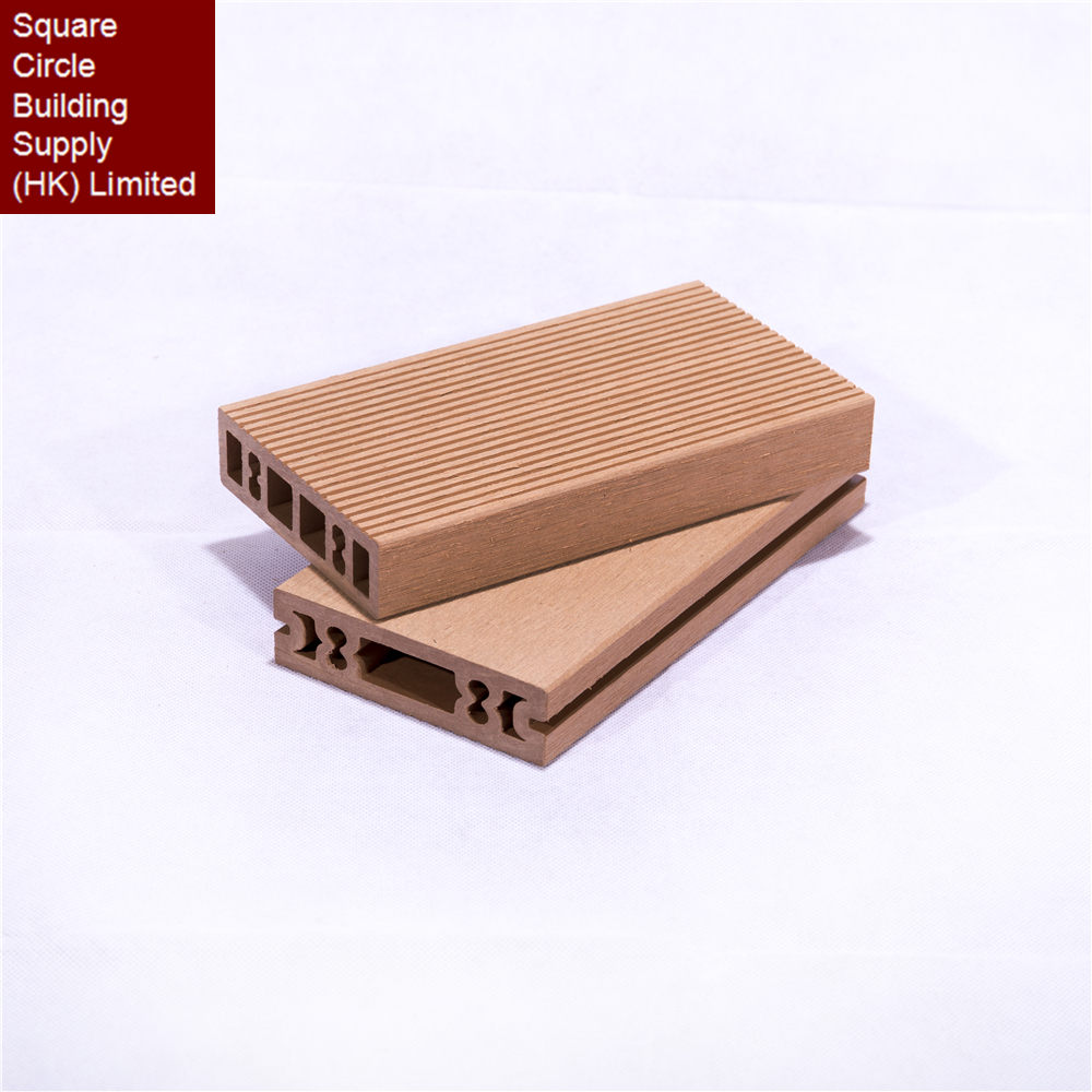 Static electricity resistance wood plastic composite board outdoor wpc decking using hidden fasteners with groove