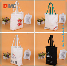 Customized Recyclable Promotional Natural Canvas Cotton ECO Tote Bags Woman