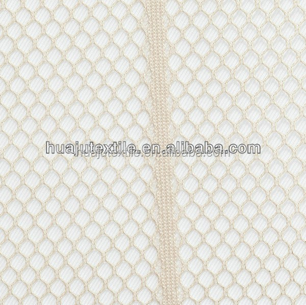 Thin black stretch polyester mesh warp knitting sequin fabric