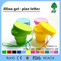 170ML BPA Free Foldable Silicone Water Bottle/Silicone Collapsible and Portable Water Bottle for Travel