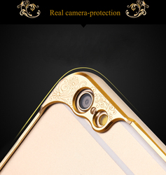 2015 New Arrival Hot Selling Aluminium luxurious Camera protecting Design Mobile Case for iphone