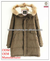 Korean Style High Quality with Big Fur Hoodie Winter Coat Women