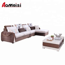 GN106 Factory wholesale fabric L shaped sectional sofa, washable,living room sofa set