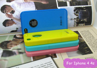 Wholesale case for iphone 4 4s/PVC cellphone case for Apple 4 4s/candy color cases for Iphone