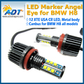 120W 7000K White led angel eyes H8 LED Angel Eyes Ring Marker Light Bulbs For b-m-w 1 3 5 X Series