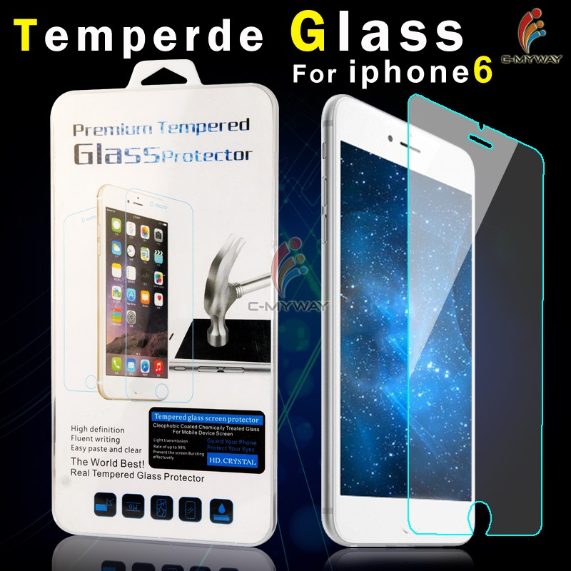 Custom Package Clear Slim 9h Tempered Glass Screen Protector For Iphone 7