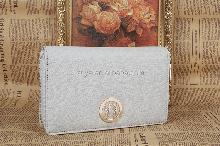 Large capacity credit card purse pu leather cell phone wallet with zipper pocket for women from china