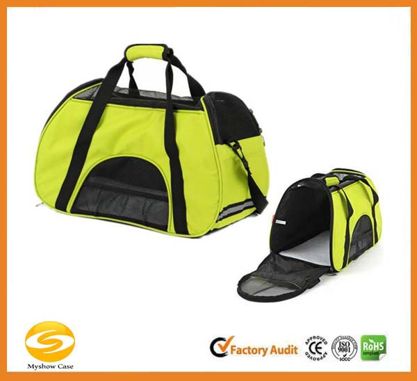 high quality Comfort Carrier Soft-Sided Pet Carrier,green polyester sturdy bag pet carrier,popular fashion pet travel carry bag