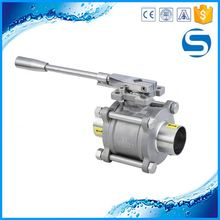stainless steel pipe fitting pneumatic discharge ball valve