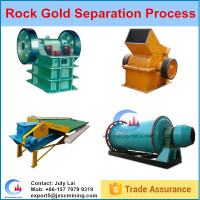 Complete set rocky gold mine machinery,rock gold shaking table in Tanzania