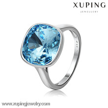 Free Shipping Xuping Fashion crystals from Swarovski Lover's Square ShapedJewellery Ring, squar crystal ring