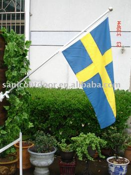 Sweden flag/Sweden flag pole/Wall flag pole