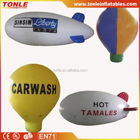 customized logo New 6m Inflatable PVC Blimp / Airship / Airplane / inflatable zeppelin helium balloon