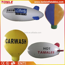 customized logo New 6m Inflatable PVC Blimp / Airship / Airplane / inflatable zeppelin helium balloon for sale