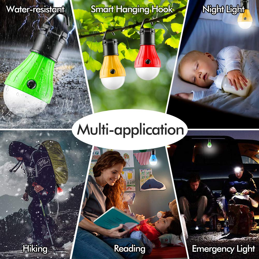 Tent Lamp Portable LED Tent Light Emergency Lights Camping Light Bulbs Camping Tent Lantern Bulb for Camping Hiking